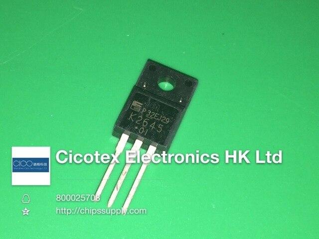 10 pièces/lot 2SK2645-01MR K2645 TO220F n-channel MOS-FET LCD interrupteur dalimentation tube 600V 9A Triode Transistor