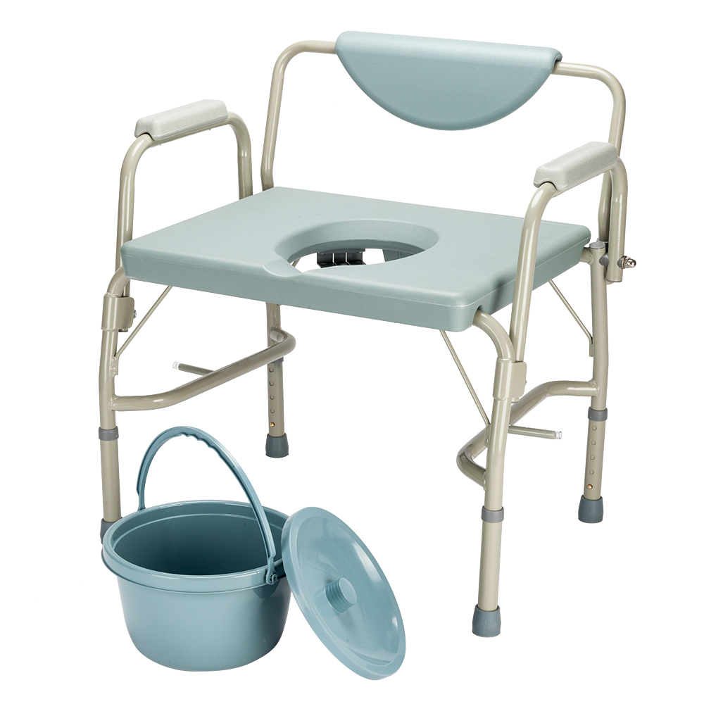 Medical Bariatric Drop-Arm Commode