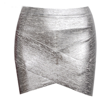 KLEEZY  Inversed V Sexy  Skinny Party Women Bandage Pencil Summer Short Mini Skirt  HL670