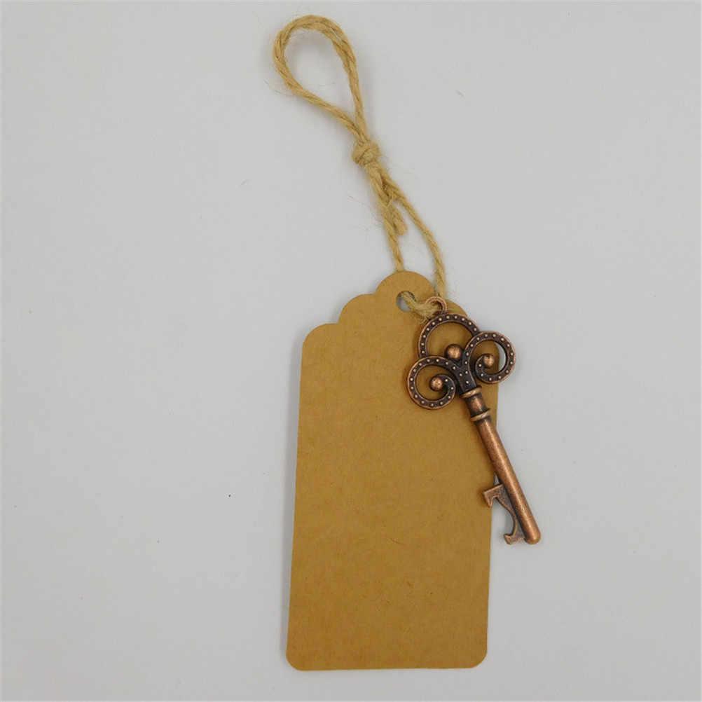 6pcs พวงกุญแจรูปกุญแจเปิดขวดเบียร์ที่เปิดขวดรูปกุญแจที่ไม่ซ้ำกันของขวัญงานแต่งงาน Decor