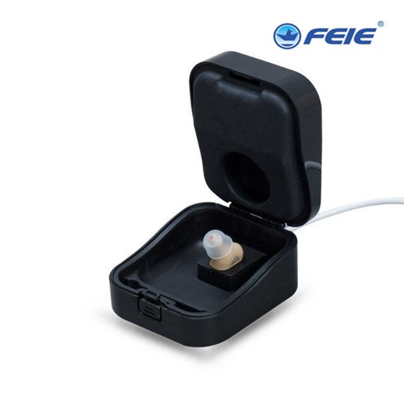 USB charger CIC in ear unnoticed hearing aid rechargeable sound amplifier Mini device S-51 Elderly Hearing Loss free shipping feie rechargeable hearing aid earphones s 101 bluetooth style behind ear sound amplifier usb charger free shipping