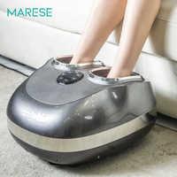 Masajeador eléctrico MARESE para pies, máquina de vibración de la presión del aire, rodillo calentado, dispositivo de masaje Shiatsu, cuidado saludable