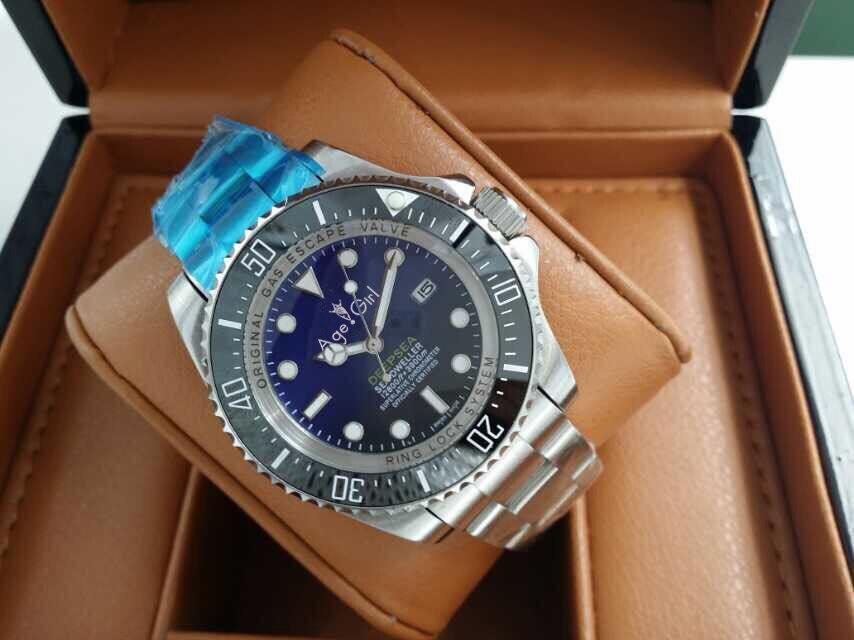Top Marque De Luxe Nouvelle Montre Homme Bracelet En Acier Inoxydable Automatique Mécanique Noir Bleu En Céramique Saphir 44mm Montres Lourd AAA +