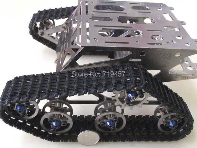 FREE SHIPPING metal chassis of the robot tracked robot Crawler chassis tank chassis