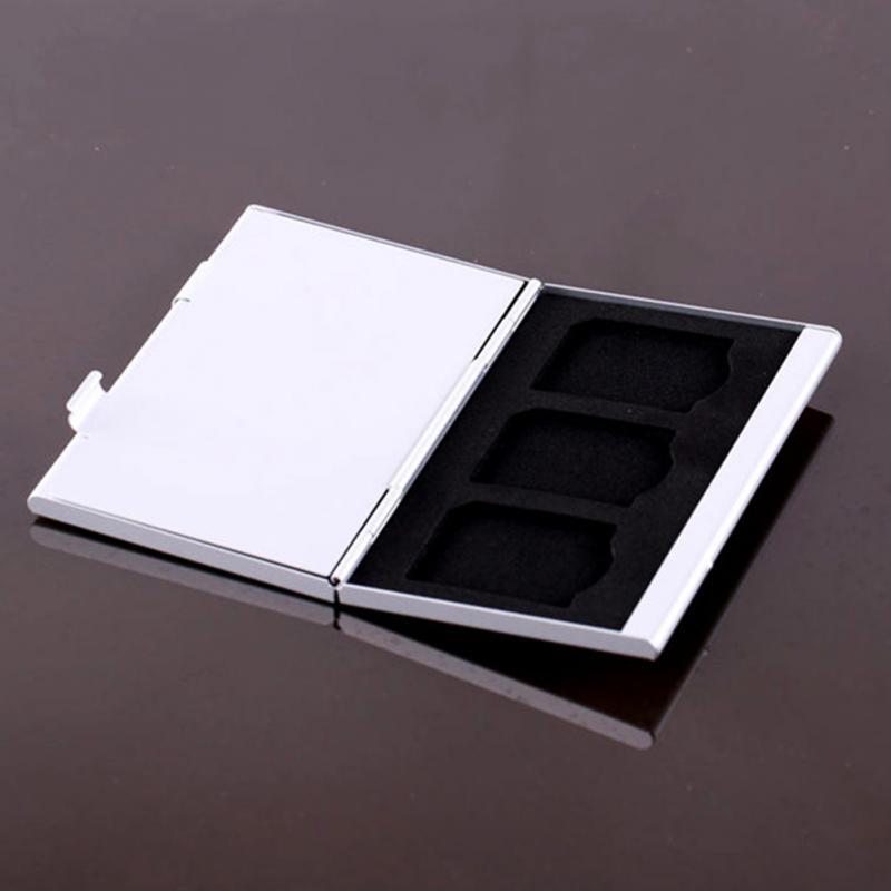2016 алюминиевого сплава микро SD MMC карта памяти ТФ коробка для хранения хранитель дело бесплатная доставка