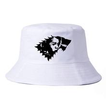 Arya Stark Wall Sticker Game Of Thrones Bucket Hats Men Women Summer fishing hat Printed casual fisherman