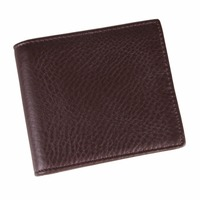 New Nappa Cowhide Short Purse Women Simple Casual Walllet Fashion Black And Coffee Money Clip Men