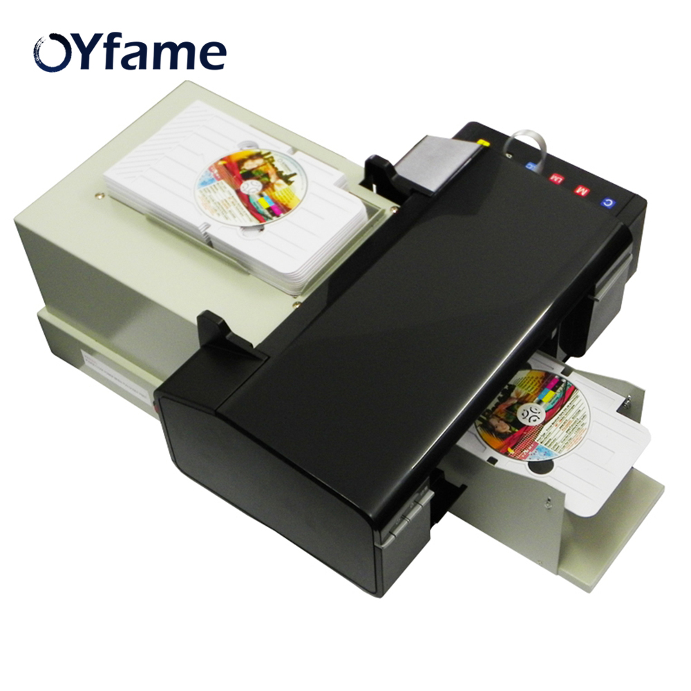 US $631 0 15% OFF|OYfame New Digital CD Printer DVD Disc Printing Machine  Automatic PVC Card Printer for Epson L800 with 50pcs CD PVC Tray -in