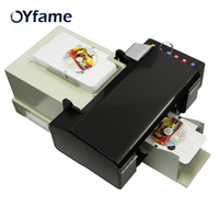 OYfame New Digital CD Printer DVD Disc Printing Machine Automatic PVC Card Printer for Epson L800 with 50pcs CD PVC Tray