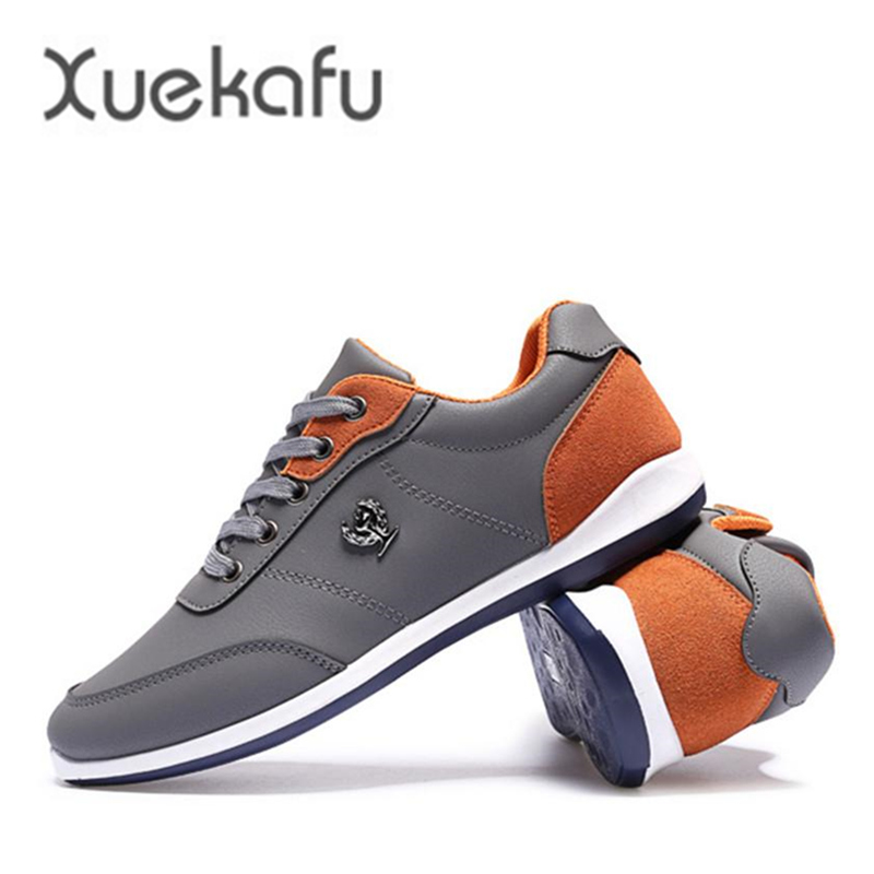 купить  New Hot Sale Fashion 2017 Men Shoes pu Leather Casual Breathable Comfortable Lace Up Flat Shoes Quality Shoes Men Spring Autumn  онлайн