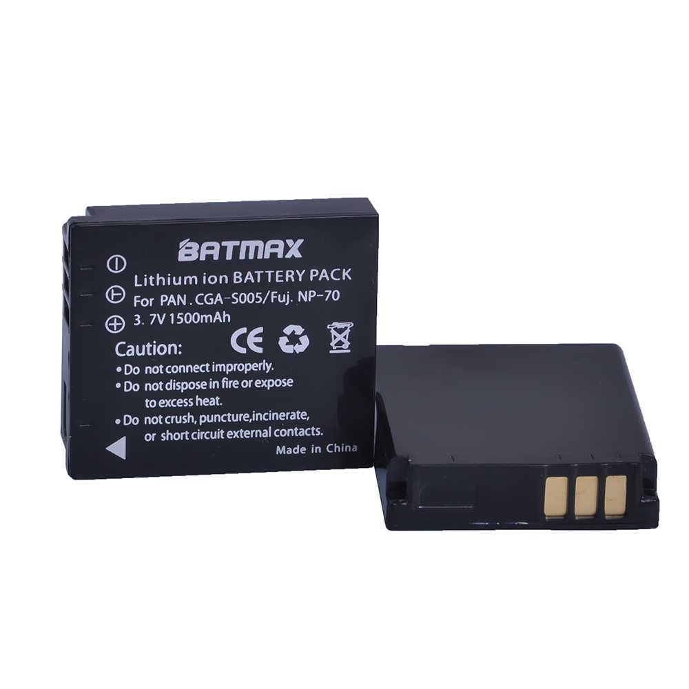 2x Baterías CGA-S005E BCC12 1500mAh para Panasonic Lumix DMC-FS1 DMC-FS2
