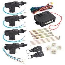 Universal Car Auto Remote Central Locking Alarm Security Kit 4 Door Bracket Keyless Entry System 360