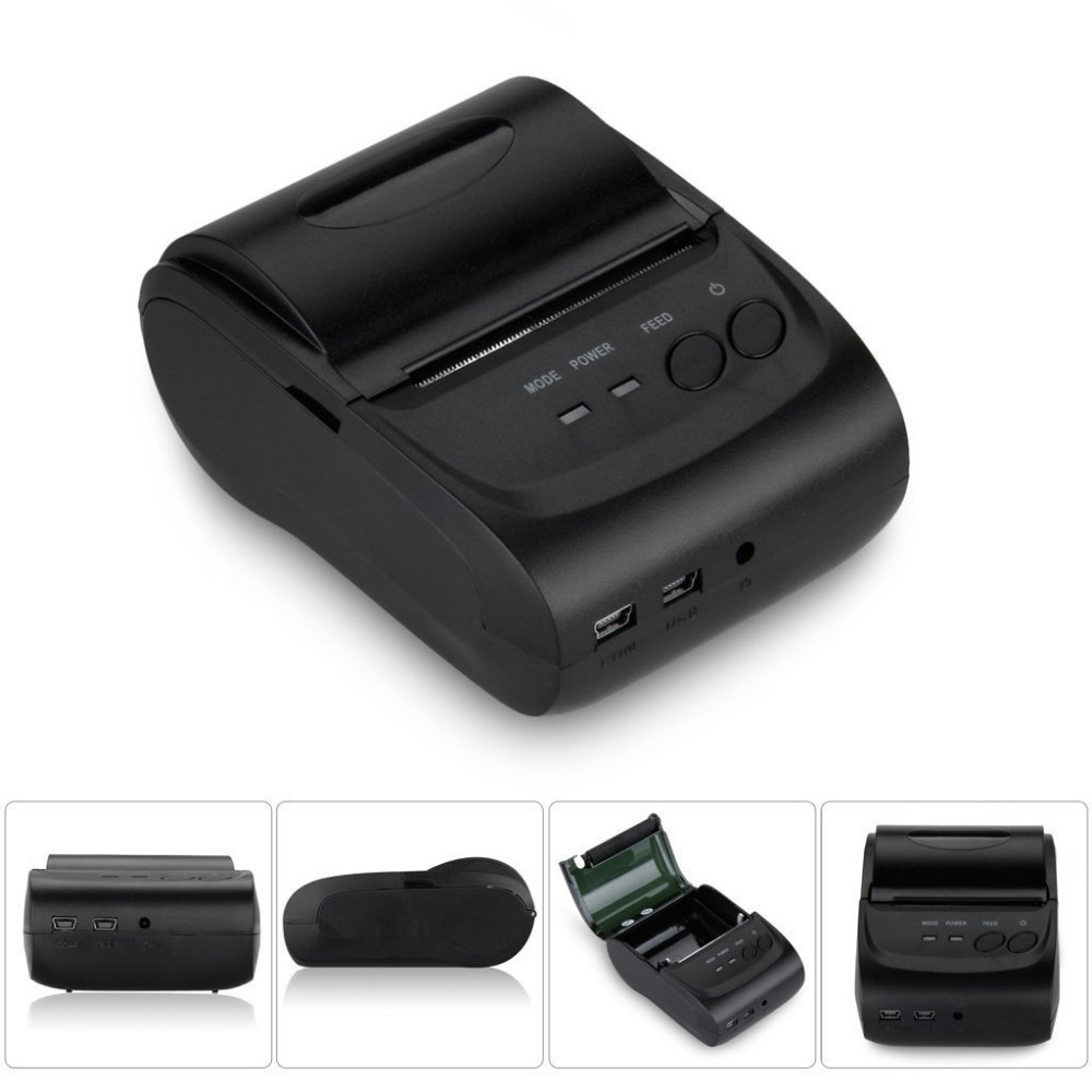 2 inch 58mm Mini Portable impressora Wireless Bluetooth Thermal Receipt Pocket Size For Restaurant Support Andorid System