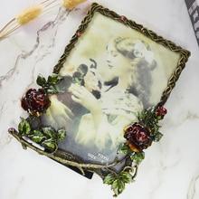 European creative photo frame s personalized art rose decorative ornaments retro picture