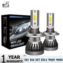 2Pcs Mini H7 LED Bulb H1 H4 H11 HB3 HB4 9005 9006 LED Car Headlight Bulbs Kit 12000LM 80W Auto Headlamp 6000K Car Lights 12V 24V eurs mini6 2pcs car headlight bulbs led h1 h4 led h7 40w 12v 24v auto bulb led h3 h7 h10 car headlight bulbs 6000k