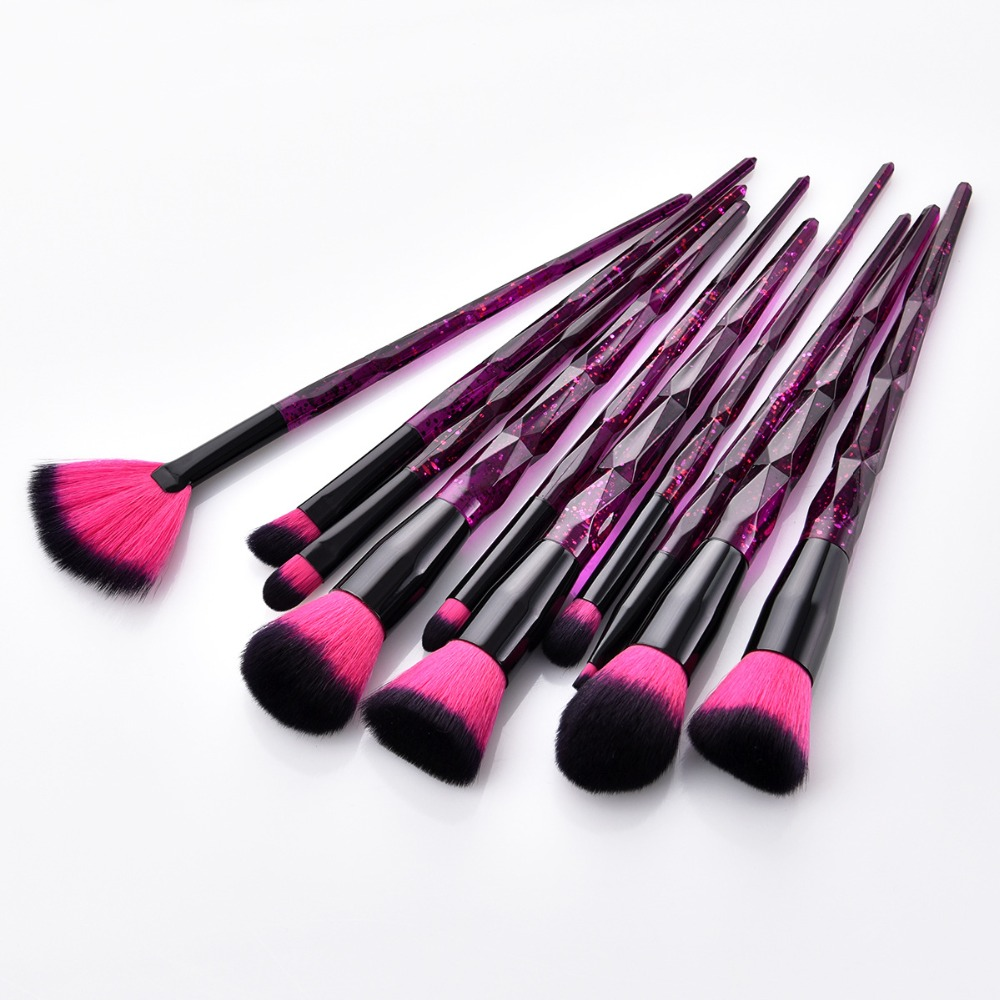 цены Diamond Makeup Brushes Unicorn Foundation Powder Brush Eyeshadow Fan Makeup Brush Set Highlighter Eyebrow Cosmetic Brush Tools