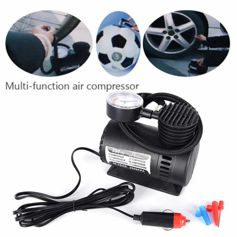 Draagbare Auto/Auto DC 12V Electric Air Compressor/Tire Inflator 300PSI Automobile Emergency Luchtpomp