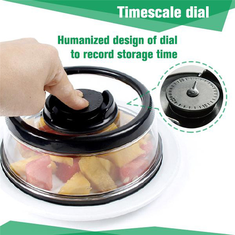 Vacuum Food Seal fresh Cover Vacuum Food Sealer Mintiml Cover Kitchen Instant Vacuum Food Sealer Fresh Cover #2H08 (6)