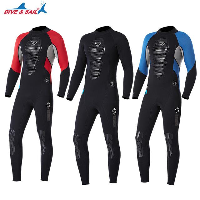 High Quality 3mm Fullbody Neoprene Wetsuit Men Anti-scratch Swimsuit Triathlon Surfing Scuba Snorkeling Spearfishing Equipment
