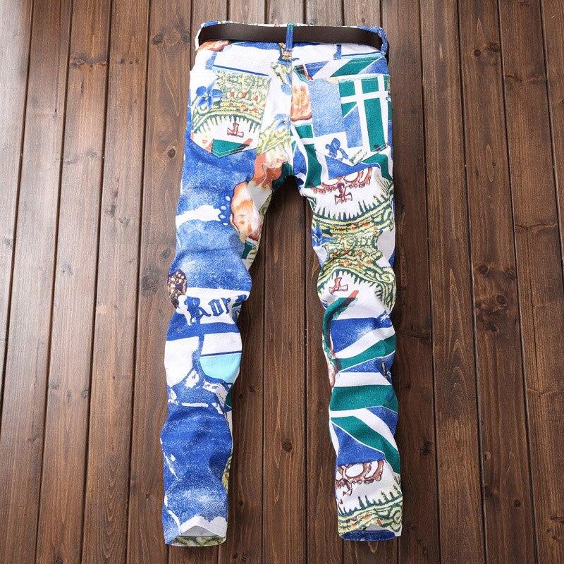 Jeans Imprimer Mens Offre Pantalon Mâle Automne New Long Casual Droite Marque Blanc Taille Grande Denim White Hiver Fashion European Spéciale x01q0zwSR