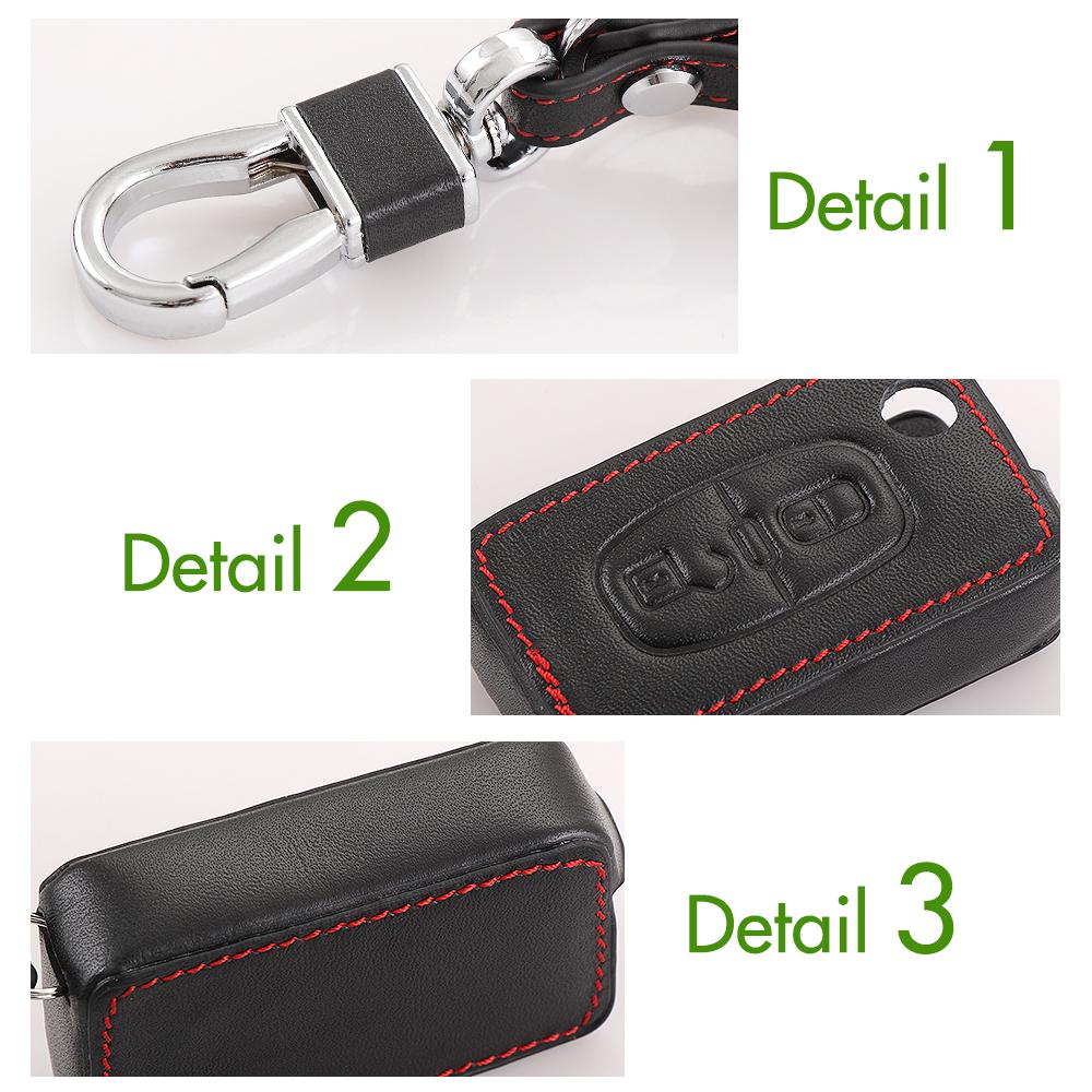 новый дизайн кожаный брелок кольцо держатель чехол для рзк Пежо 206 207 306 307 308 407 408 для Ситроен С2 С3 С4 С5 Катр