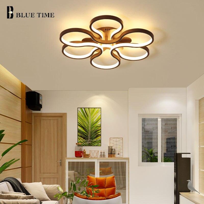 Montado en la superficie moderna luz Led de techo para habitación dormitorio Simple Plafon lámpara de techo Led iluminación FixtureAC110V 220 V