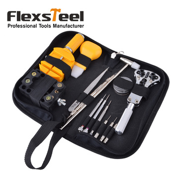 цена на Flexsteel 32pcs Watch Repair Tool Kit Set With Case Opener Link Remover Spring Bar Remover Tweezer Screwdriver Pin and Hammer
