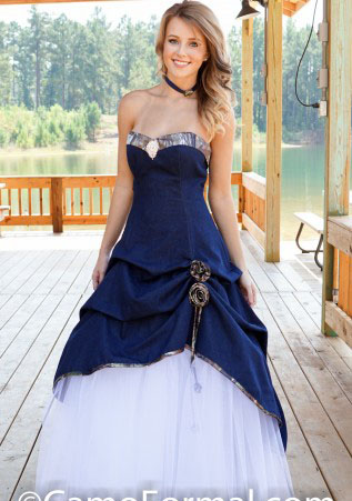 navy blue camouflage wedding dresses fast delivery gothic long white camo bridal dress plus size robes