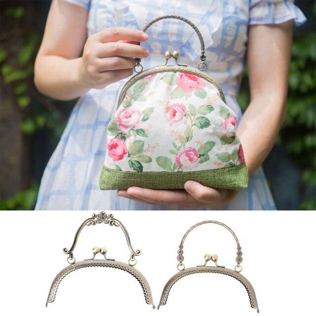 2018 Diy Craft 16 5cm Metal Handbag Handle Frame Kiss Clasp Lock Arch For Purse Bag Fashion 2 Size New