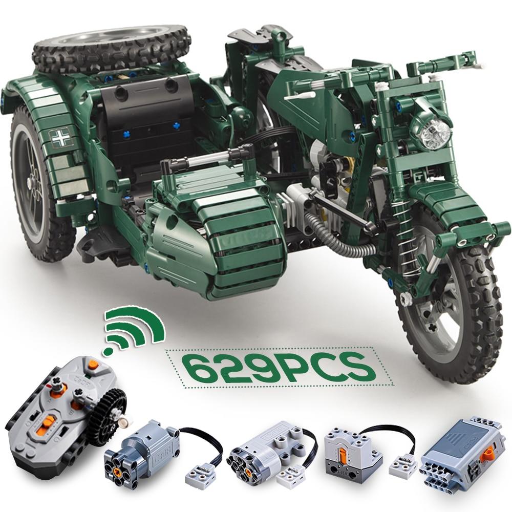 cada rc motorcycle technic blocks ww2 building blocks toy weapon military army block motor model set