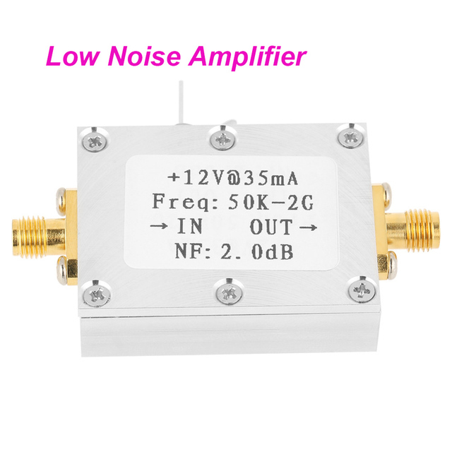 US $14 25 41% OFF|1 PCS RF Amplifier Signal Receiver 50K 2GHZ Low Noise  Amplifier RF Amplifier Broadband Low Noise Amplifier LNA Gain 31DB Gain-in