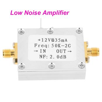 1 sztuk wzmacniacz fal RF odbiornik sygnału 50K-2GHZ niski poziom hałasu wzmacniacz fal RF szerokopasmowy niski poziom hałasu wzmacniacz LNA zysk 31DB zysk tanie i dobre opinie VBESTLIFE Elektryczne frequency meter Analogowe tylko 7 x 4 5 x 1 3cm normal Tempeture frequency counter RF Amplifier Signal Receiver