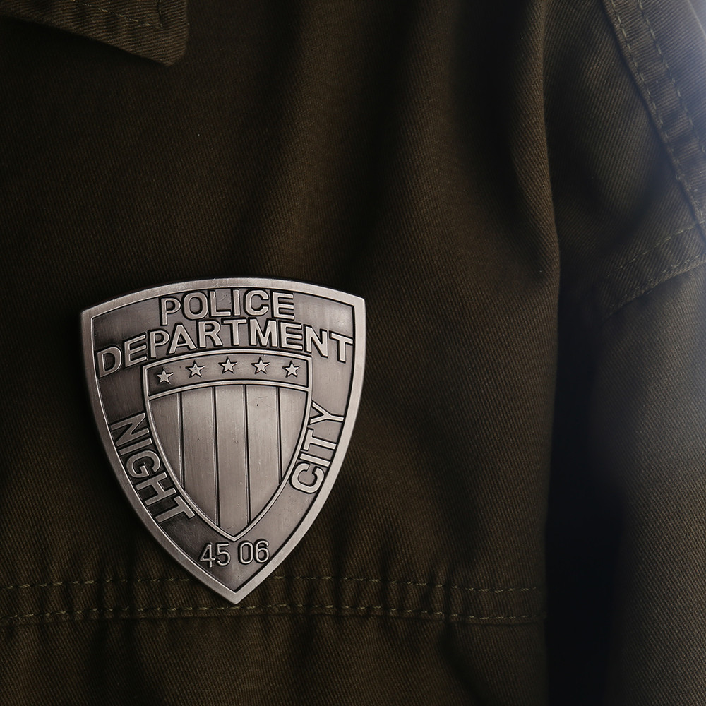 New Game Badge Night City Police Department Badge Cosplay 2077 MAX-TAC The Psycho Squad Badge