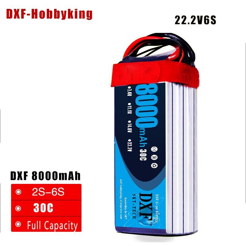 DXF Lipo Bateria AKKU 6 S 22.2 V 8000 mah 30C 60C Batterie Au Lithium Traxxas Pour RC Hélicoptère Avion Voiture bateau Drone Camion