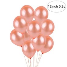 High Quality 10Pcs 12inch 3.2g Rose Gold Color Latex Party Balloons Wedding Graduation Birthday Decoration Supplies
