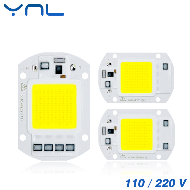 YNL 110V 220V COB LED Chip Bulb Real Power 50W LED Lamp Input IP65 Smart IC Fit For DIY Outdoor LED Flood Light No need Driver led cob bulb lamp 30w 50w led chip beads 220v input ip65 smart ic fit for diy led flood light cold white warm white
