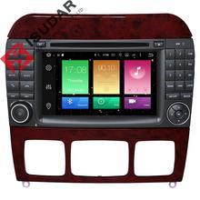 Android 6.0.1 7 Дюймов Dvd-плеер Автомобиля Для Mercedes/Benz/S320/S350/S400/S500/W220/W215/C Class S-класса 2 Г RAM 3 Г/4 Г WI-FI Радио GPS