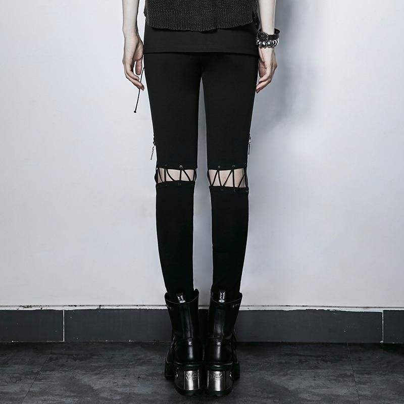 Nuove Steampunk Donna Pro Arrvials Le moda Stretti Matita 227 Vita Black Sexy Pantaloni Alta A K Punk Donne Per twf5wrq