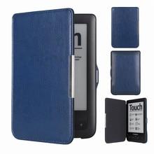 Wallet Touch Lux2 Flip on Open Pocket Book Cover Pocketbook 623 622 E-book e-reader Case Bag чехол pocketbook для reader book 1 черный
