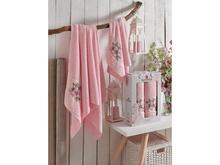 Набор полотенец merzuka, IRIS, 2 предмета, светло-розовый
