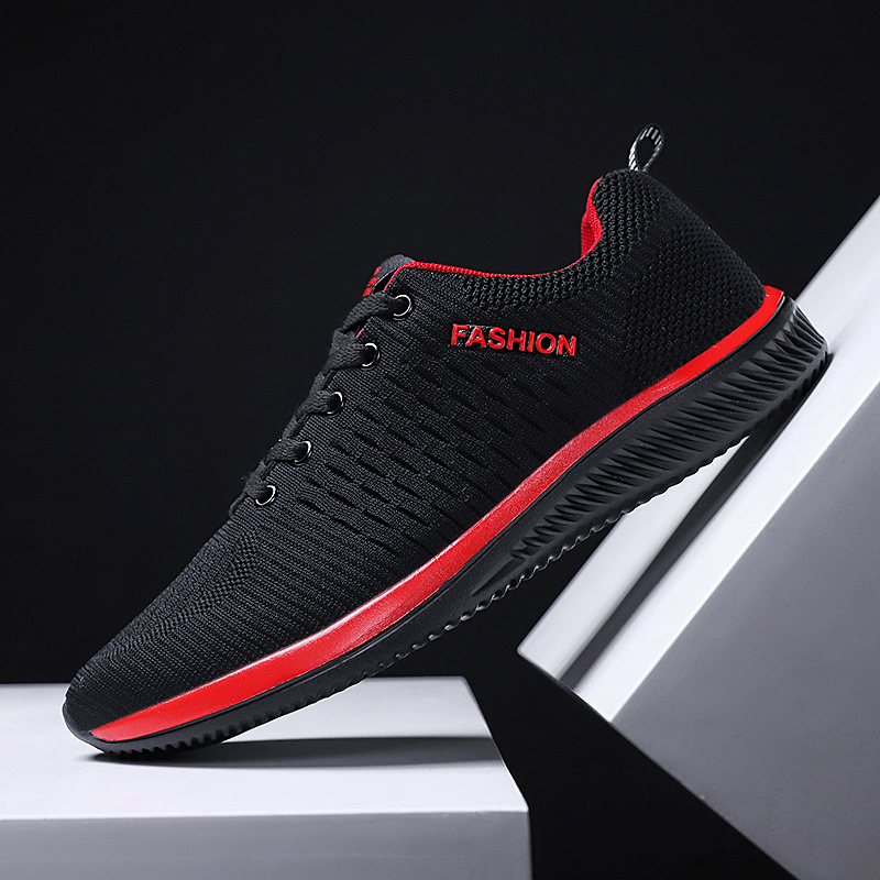 Women's fashion sports shoes Flyknit women's fashion casual shoes vulcanized shoes comfortable flat walking shoes breathable цены