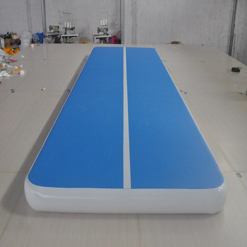Tapis de gymnastique gonflable 8*1 M (environ 26*3 pieds) exercice physique Air piste d'entraînement de gymnastique utilisation pour taekwondo ou yoga