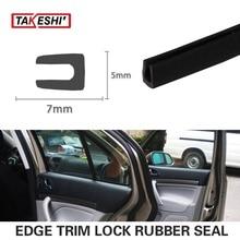 Car Truck Van Boat 7x5mm U pillar Black Trim Rubber Edge strip Seal 118″ 300cm Interior Exterior Protector Weatherstrip #53