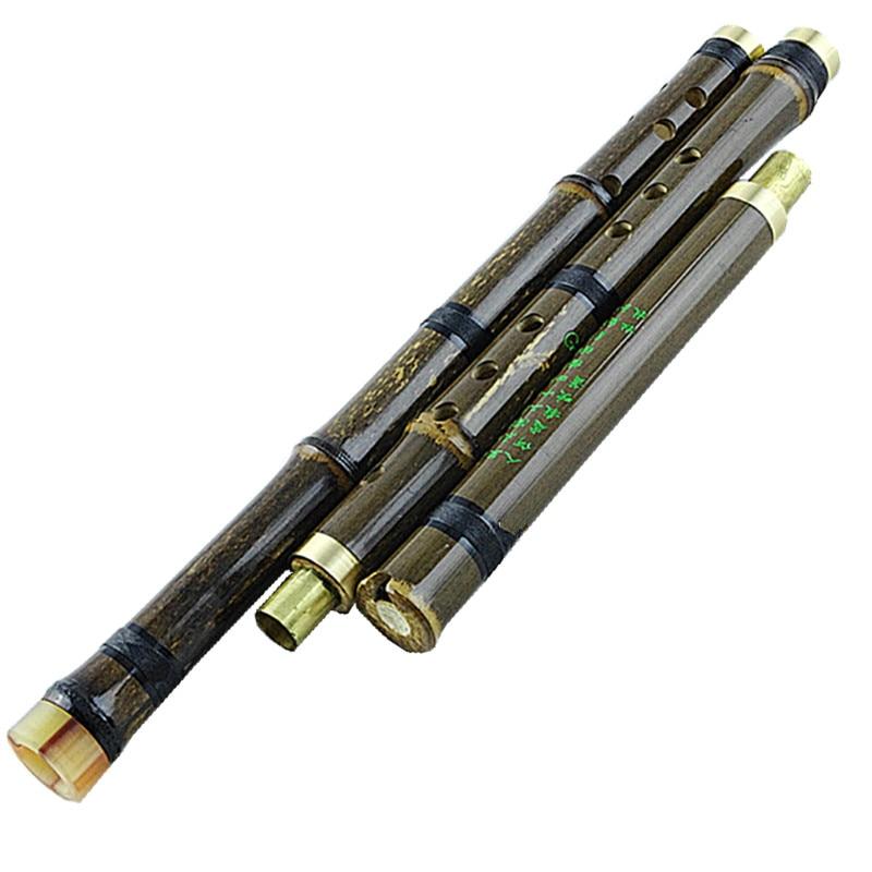 Kinijos bambuko Flauta Xiao vertikalios vėjo muzikos instrumentai huilu fleita 8 skylės G / F raktas su priedais nemokamai pristatymas