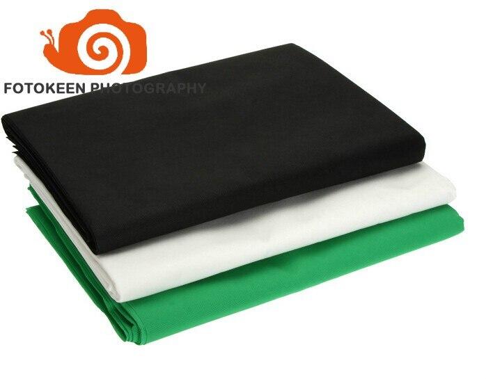 3*6 m/10x20ft Photographie Studio Non-tissé tissu tissu Toile de Fond Fond Chromakey Écran 3 Couleurs Noir blanc Vert (en option)