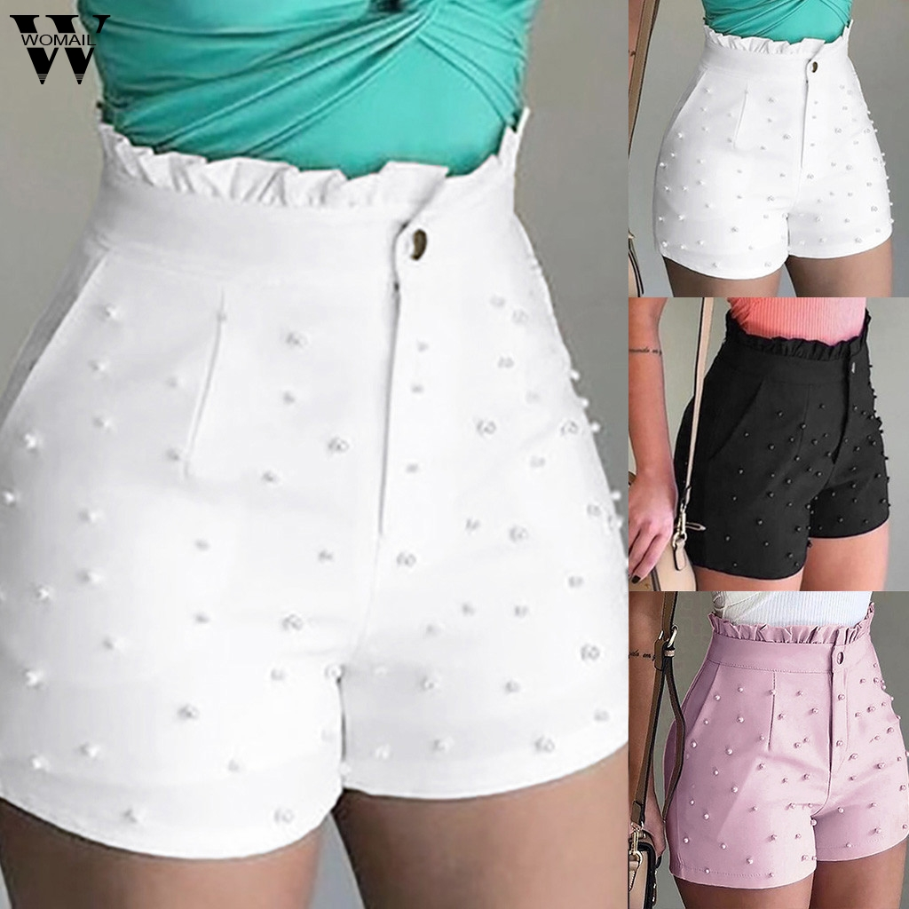 Womail Short Women 2019 New Fashion Loose 5XL Zipper Solid Lady Shorts Trousers With Pocket Casual Skinny Sweet Short Daily J76