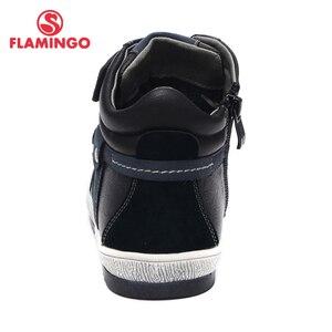 Image 2 - QWEST (فلامنغو) الخريف ورأى المضادة للانزلاق موضة أحذية أطفال طويلة الرقبة عالية الجودة الاطفال أحذية للبنين حجم 31 36 شحن مجاني W6XY231/232