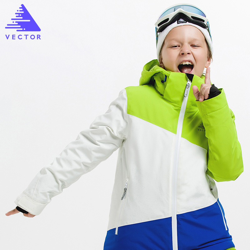 Children Spell Color Ski Jacket Boy Girl Waterproof Windproof Snow Suit Winter Warm Snowboard Outdoor Ski Suit for boys in Skiing Jackets from Sports Entertainment