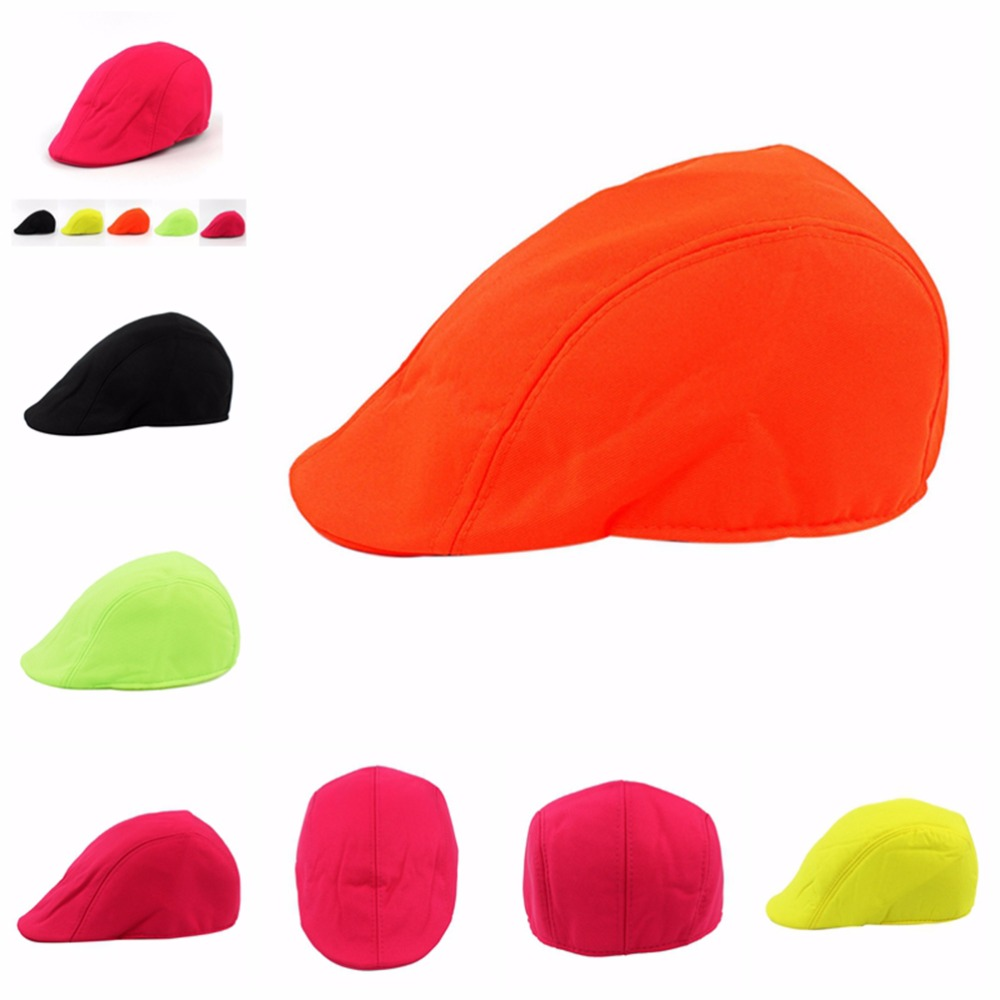 1PC Candy Color summer fashion style beret Summer Sun Flat Cap Men Women berets Gorras Planas boina masculina