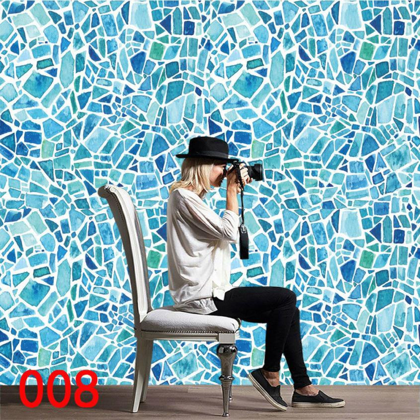 1Roll Self Adhesive Tile Wall Decal wall stickers home decor living room DIY stickers for the kitchen stickers in the bathroom